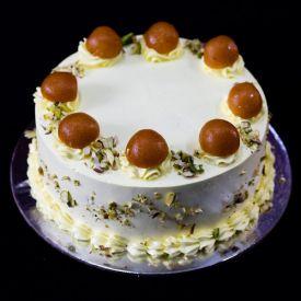 Gulab jamun Vanilla cake