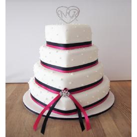 Heart Cake in 4 tier