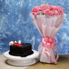 Pink Carnation N Cake