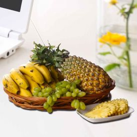 Pineapple With Grapes Combo