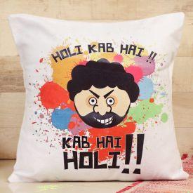 Holi colourful cushion