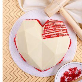Red Velvet Heart Pinata Cake