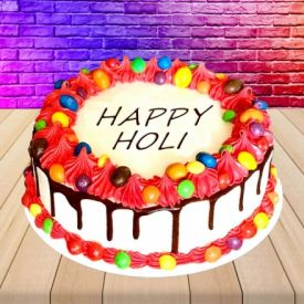 Delightful Holi cake