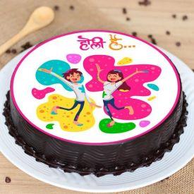 Holi Hai chocolate cake