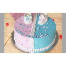 Baby girl n baby boy cake