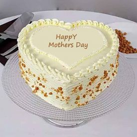 Mother's day white butterscotch cake