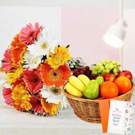 Gerbera with Fruits Combo