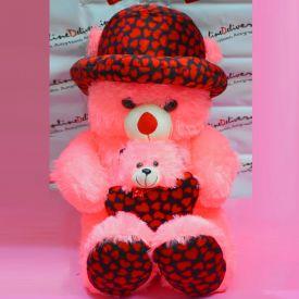 Cute Pink Teddy Little Heart Baby