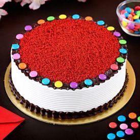 Red Velvet Gems Cake