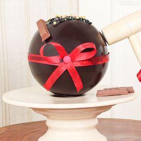 Choco Ball Pinata Cake