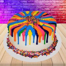 Holi Rainbow cake