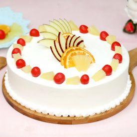 Vanilla Fruits cake