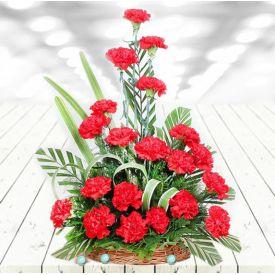 Lovely Carnations Basket