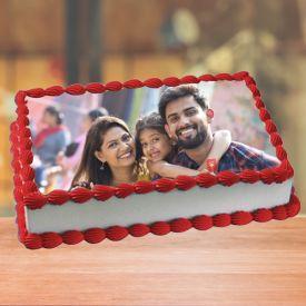 Happy Family Vanilla Photo Cake