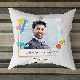 Adorable Personalized Satin Cushion