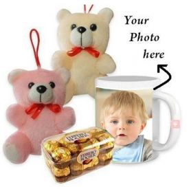 Mug (Customize), 16 Pcs Ferrero Rocher and 2 Teddy