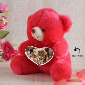 Photo Personalized Red Teddy