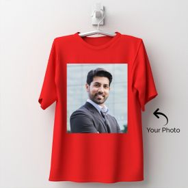 Red Tshirt Personalized With Photo