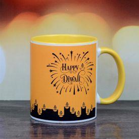 happy Diwali yellow mug