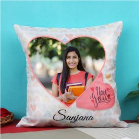 Persoanlized Love You Cushion