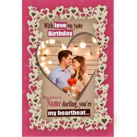 Lovely Happy Birthday Greeting card with Name