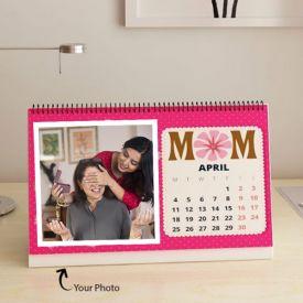 Personalized 12 Images Desktop Calendar
