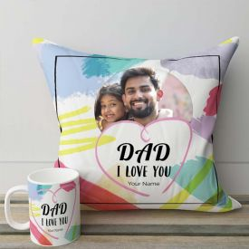 Exquisite Personalized Mug And Cushion Combo