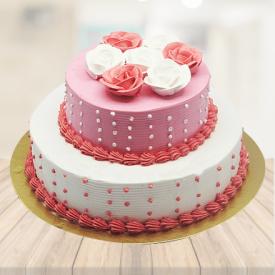 Roses Pink Cake