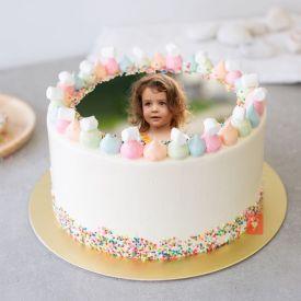Tempting Vanilla Sprinkles Cake