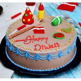 Special Diwali Crackers Cake