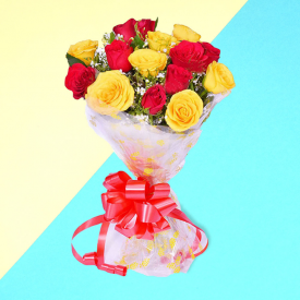 Red & Yellow Roses Special Bouquet