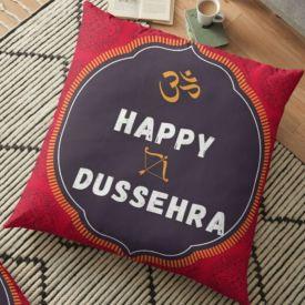 OM Happy Dussehra Cushion
