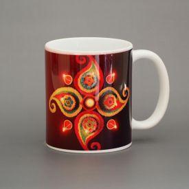 Diwali decorate mug