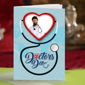 Greeting card for doctors day gift