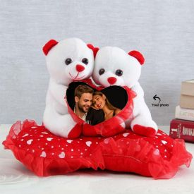 Photo Personalized Teddy Couple