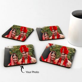 Personalized Square Wooden Coasters