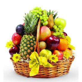 Mixed Fruits with Basket