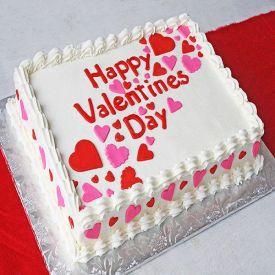 Square Shape Vanilla Cake