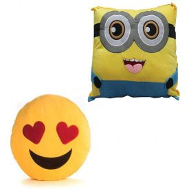 Smiley With Minions Cushion