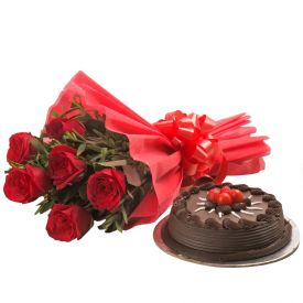 Roses and Truffle Cake