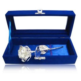 Silver Rose with gift Box