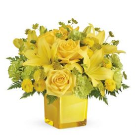 Mixed Yellow Flowers arrangements
