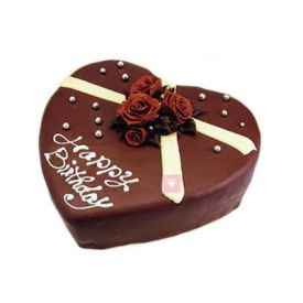 Heart Shape Eggless Chocolate truffle Cake