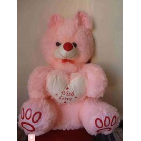 24 inch Cute Pink Teddy bear with little heart