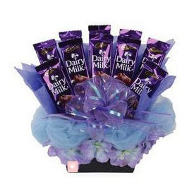 Basket of cadbury Dairymilk Silk