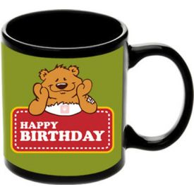 Happy Birthday Black Mugs