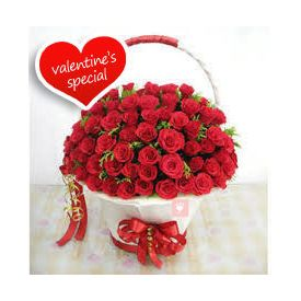 Basket of 200 Red Roses