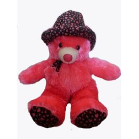 Cute Pink Teddy bear in Cap (30 inch)