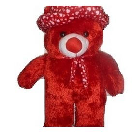 Red Big Teddy bear in Cap
