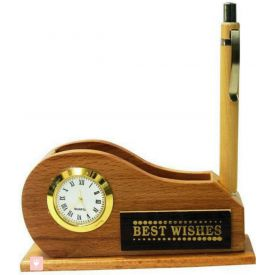 Pen with Visiting card stand and Clock
